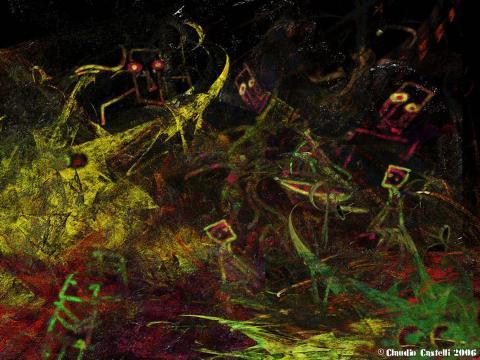 dipinto digitale superstizione
